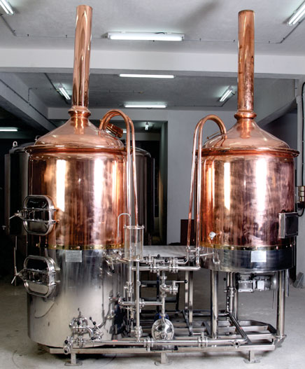 mash and boiling tank